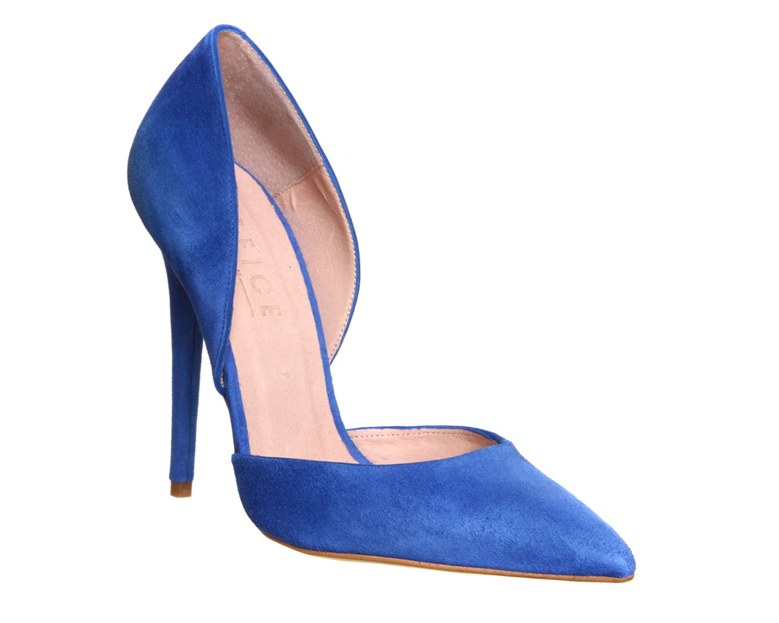 Office Panther 2 Part Court Blue Suede - High Heels