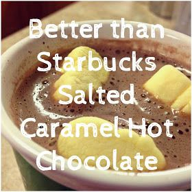 Better Than Starbucks Salted Caramel Hot Chocolate from Hi! It's Jilly