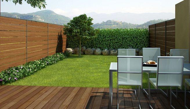 Crear un jard n de poco mantenimiento para la casa - Cortavientos de jardin ...