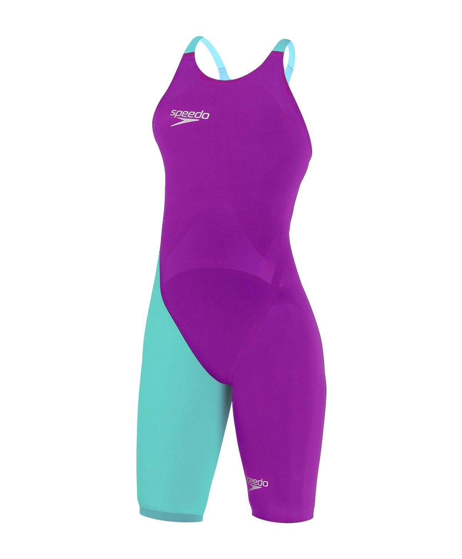 a493b91abadf Speedo LZR Elite 2 Purple/Blue Open back Kneeskin Front | Swimming ...