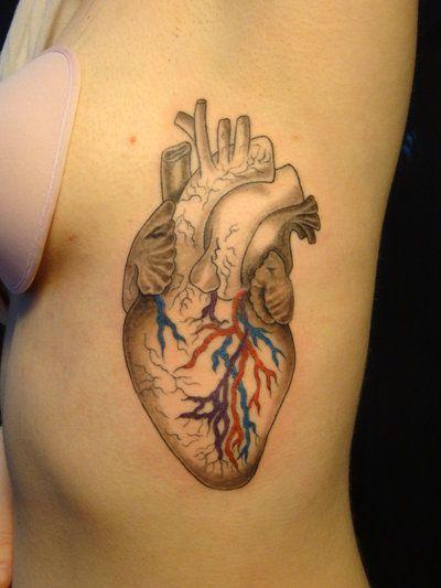 heart tattoo | Crazy Ass Tattoos | Pinterest | Mi corazón y Anatomía