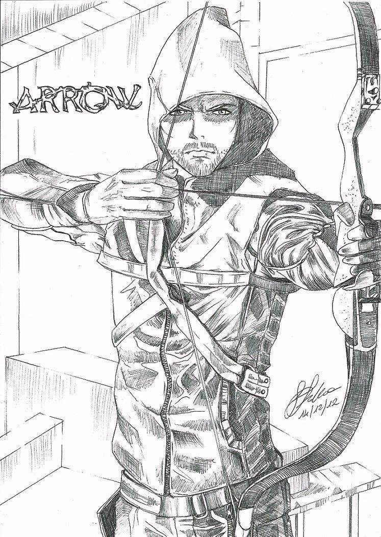 green arrow coloring pages # 2