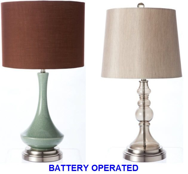 Battery Operated Cordless Table Lamps Cordless Table Lamps