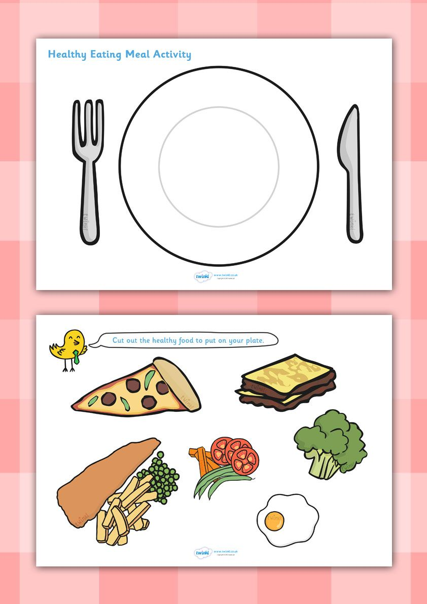 Healthy Eating Meal Activity   Healthy food activities ...