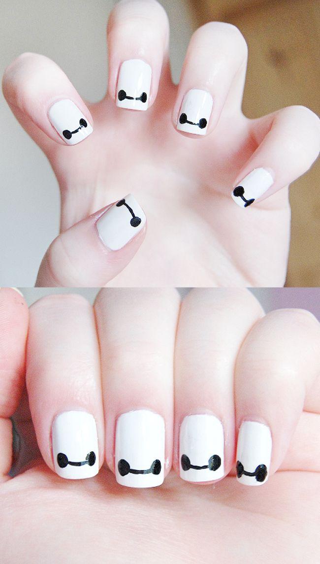 Nerdy Nails - Baymax // NerdyMermaid #nails #nailart #naildesign ...