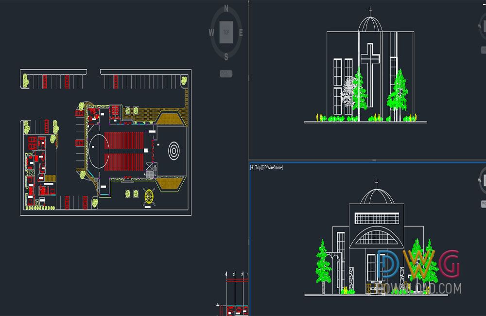 Church Project Dwg Church Plan Dwg Is The Autocad Project