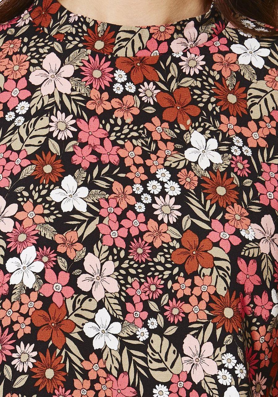 Love flower power daisy graffiti print cotton fabric 60s 70s retro - Floral
