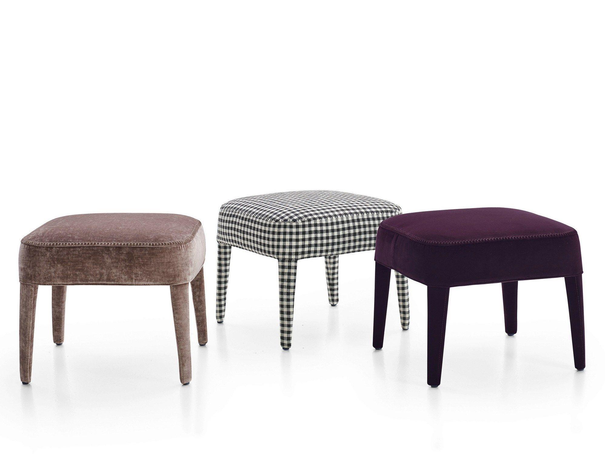 Upholstered fabric pouf febo upholstered pouf maxalto for B b italia spa