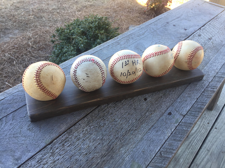 Baseball Shelf Organizer Baseball Rack Baseball Holder Ball Case Baseball Storage Wood Baseball Shelf Baseball Holder Shelf Organization