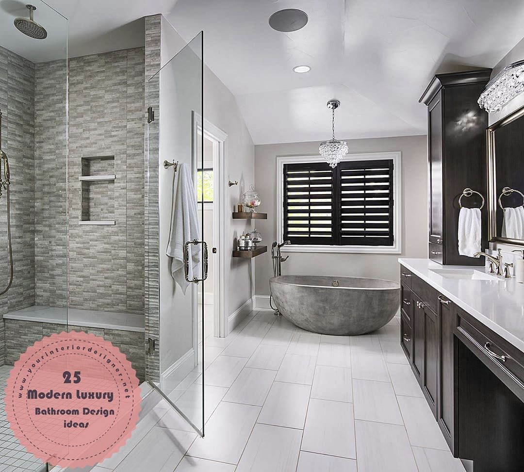 25 Tips For Those Who Want To Make Their Main Bathrooms Luxury With Modern Touches Page 14 Of 25 Your Interior Designer Bathrooms Luxury Main Bathroom Bathrooms Remodel New home bathroom design