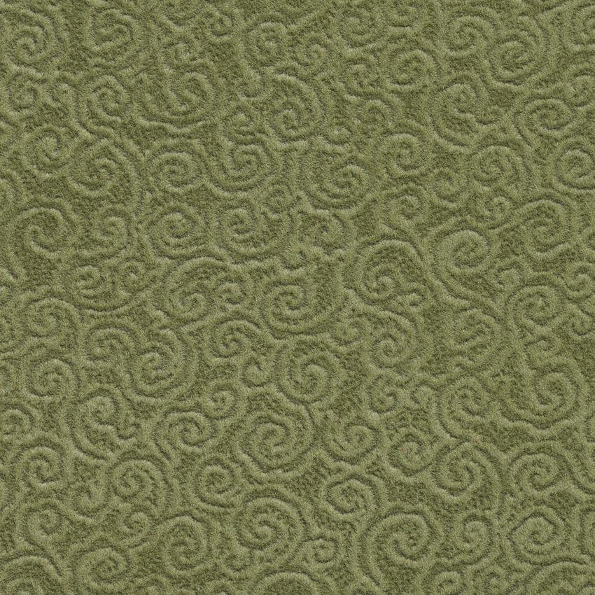 Sage Green Small Abstract Scroll Microfiber Velvet Upholstery