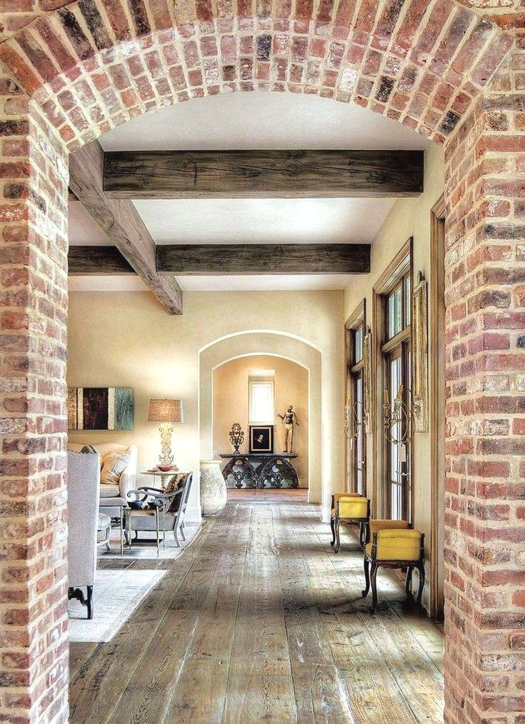 Brick wood  traditional french country inspired houston ranch home also best living rooms images in rh pinterest