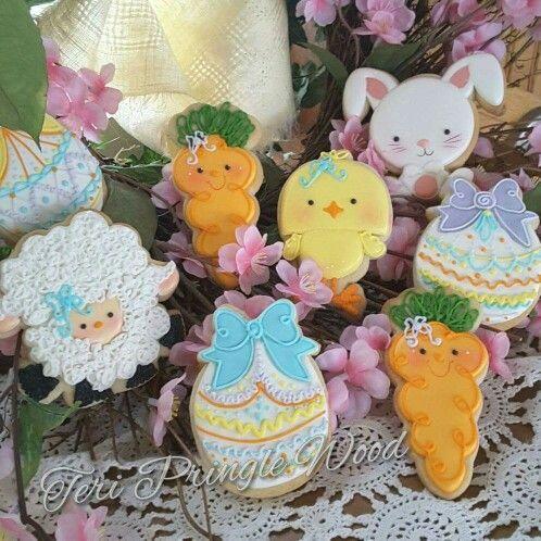 Adorable Kawaii Easter Spring Cookies