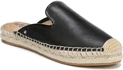 97a56d28f56 Sam Edelman Kerry Espadrille Mule in Black. A rope-wrapped platform and toe  add to the summery appeal of a versatile