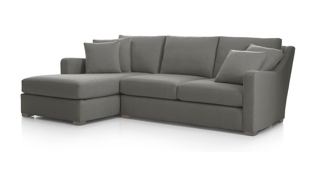 Verano 2 Piece Left Arm Chaise Sectional Sofa Smoke Crate And Barrel Sectional Sofa Sectional Sofa