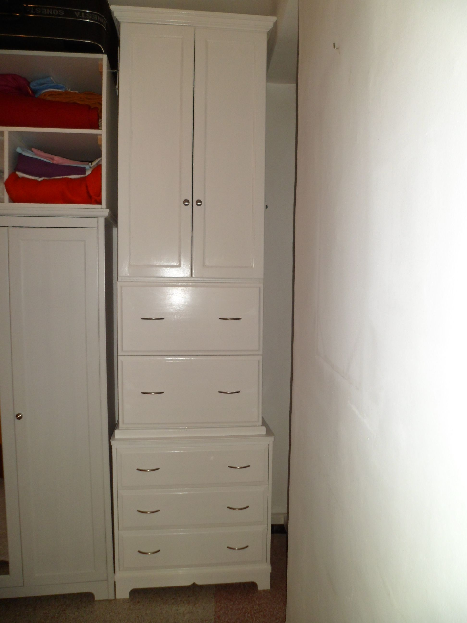 Armoire And Dresser Combination Custom Designed For Narrow Space