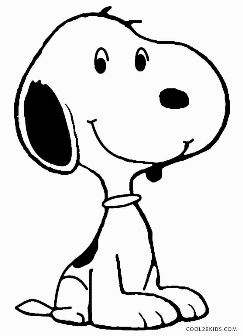 Printable snoopy coloring pages for kids coolbkids thank god