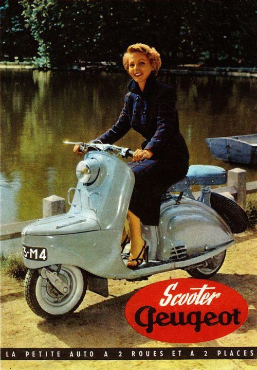 Print ad: Volkswagen: Scooter Girl