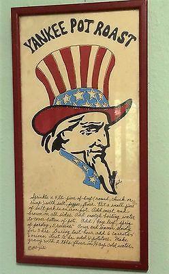 Vintage Soovia Janis YANKEE POT ROAST Print Recipe Pati Americana Political  1967 | Vintage art, Art prints, Food artwork