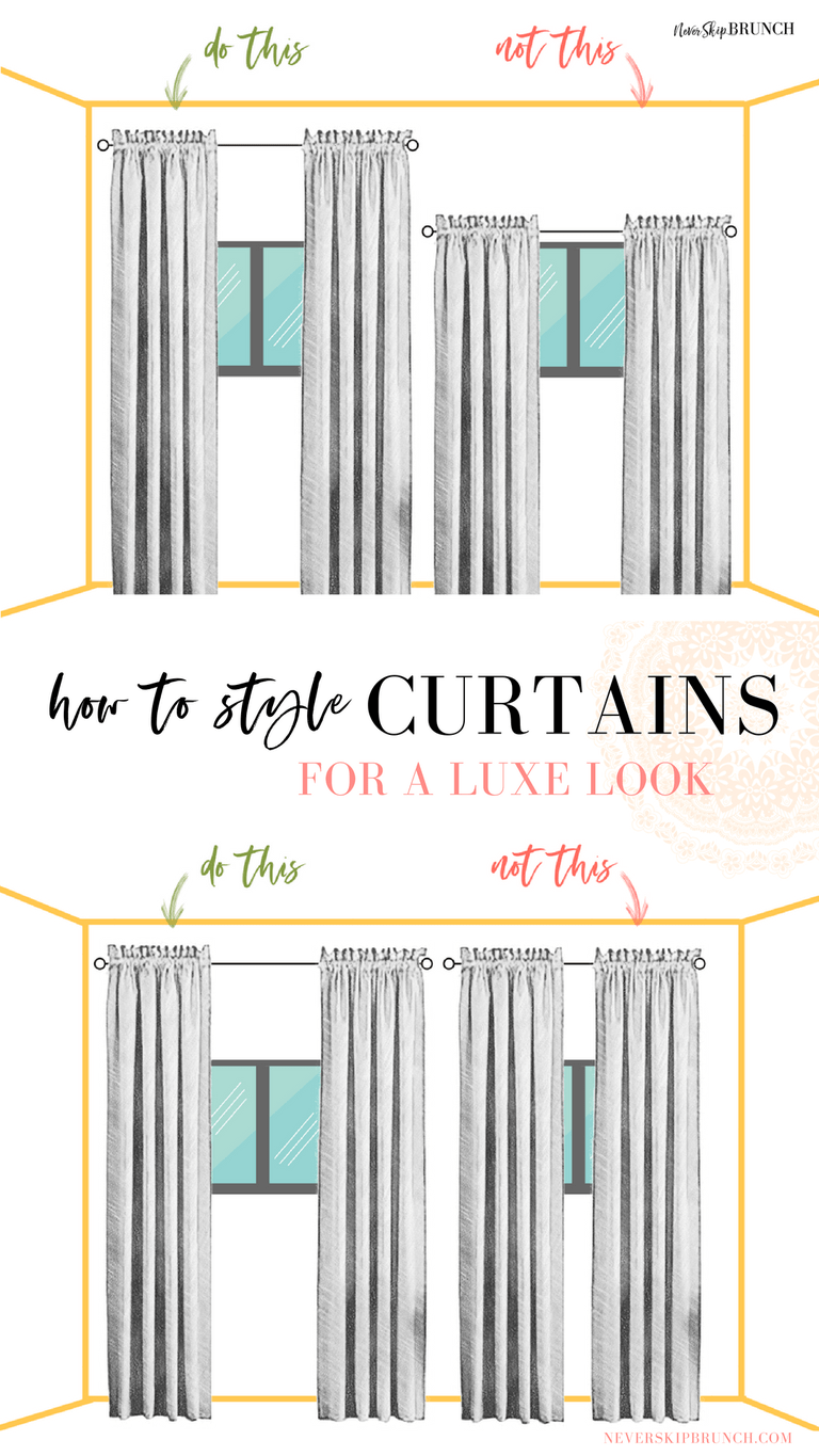 How To Style Colored Curtains For A Luxe Look Never Skip Brunch Curtain Decor Simple Curtains Home Decor Tips