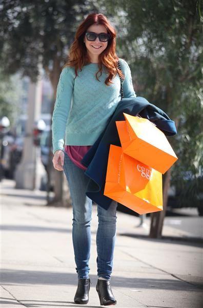 Alyson Hannigan shops in West Hollywood, Calif., on Jan. 29, 2014.