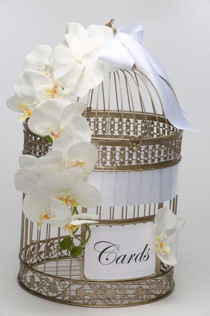 Bird cage Wedding Card Money Holder Unique by ElegantSparkleBoutiq