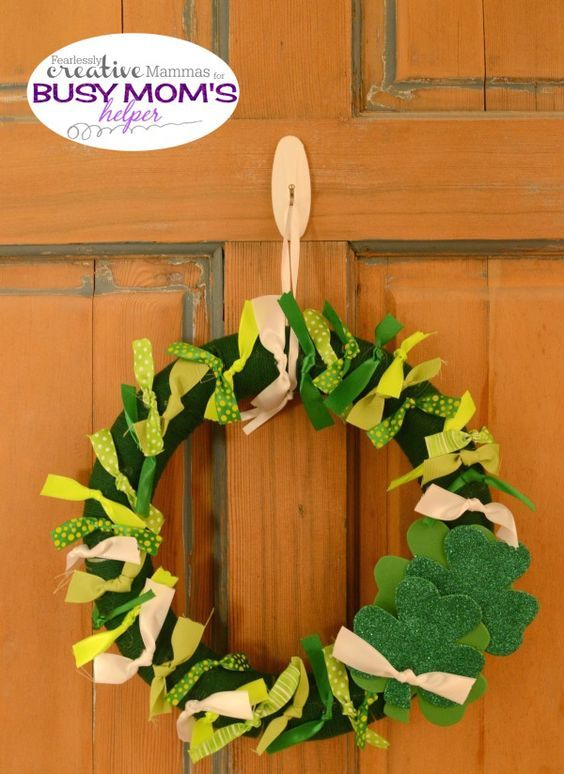 Photo of St. Patrick's Day Band Wreath – Busy Moms Helper