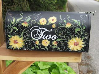 hand painted mailbox designs. Hand Painted Mailbox Designs N
