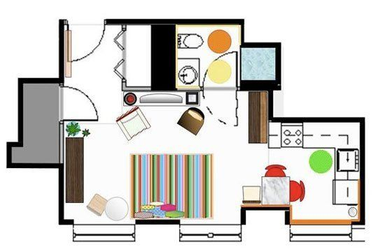 Smart Studio Apartment Layouts Studio Apartment Layout Studio - Apartment with a smart layout
