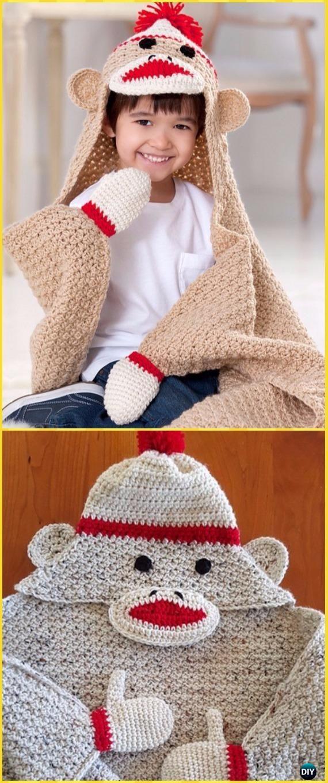 Crochet Hooded Blanket Free Patterns Tutorials Hooded Blanket