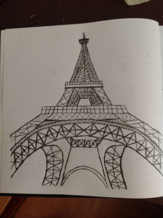 Draw The Eiffel Tower Drawings To Do Pinterest Drawings Art