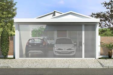 Plano de casa con alta techos de cristal planos de casas for Casa moderna 7x20