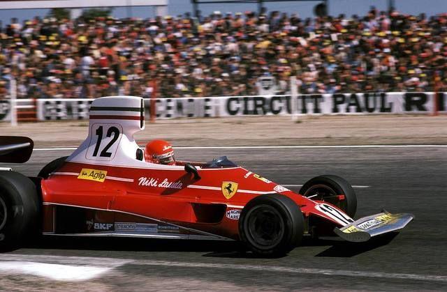 Niki Lauda 312T Le Castellet 1975.