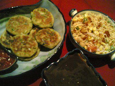 Aloo tikki corn bhel indian street food fare receta forumfinder Images