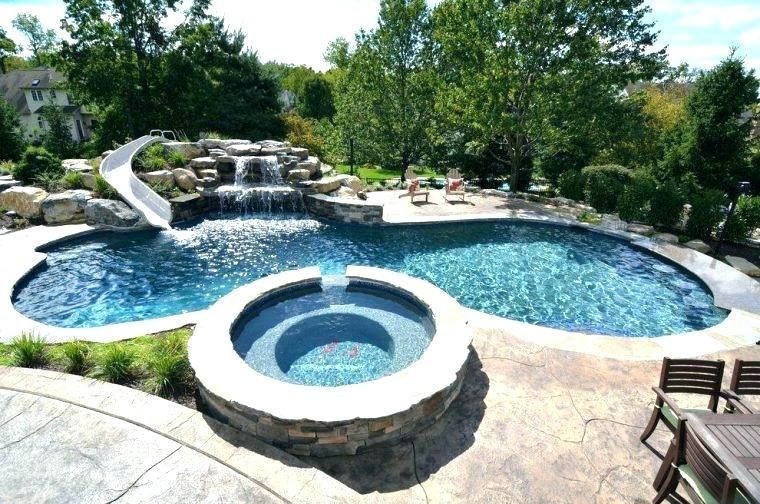 Image result for backyard pool with slide - Image Result For Backyard Pool With Slide Backyard Pools