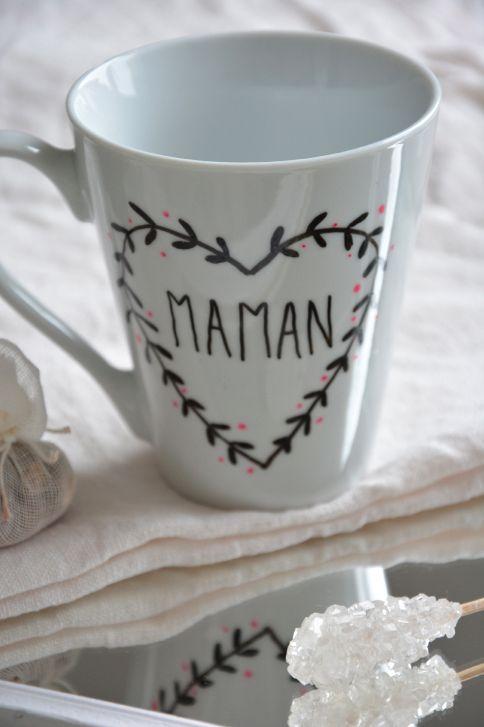 Bien connu Un mug, des feutres pour porcelaine et le tour est joué ! Voici l  YQ88