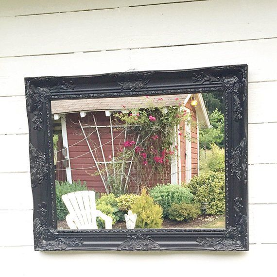58199bd93e6dd Black Ornate Wall Mirror