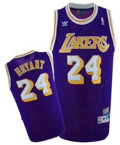 sale retailer fd9fa 53d60 Adidas NBA Los Angeles Lakers 24 Kobe Bryant Swingman Purple ...