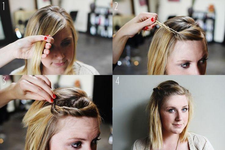 Tuto coiffure cheveux courts femme Pinterest Beauty