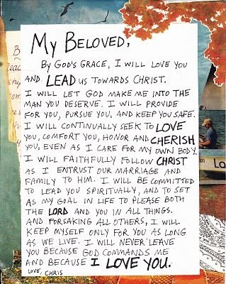 This Couple Wrote Up Their Wedding Vows Put Them On A Collage