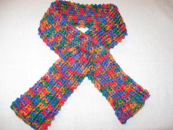 Child Knit Scarf Stay Put by susanstreasures on Etsy, $18.00