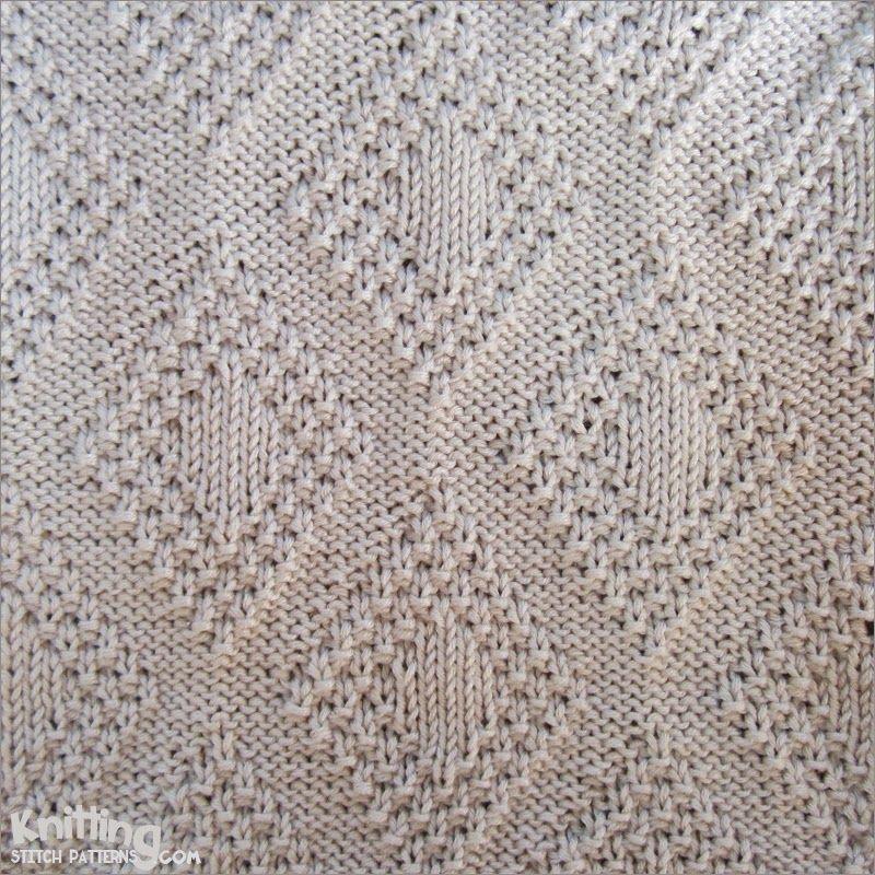 Moss Bordered Diamond is a versatile stitch. It\'s reversible ...