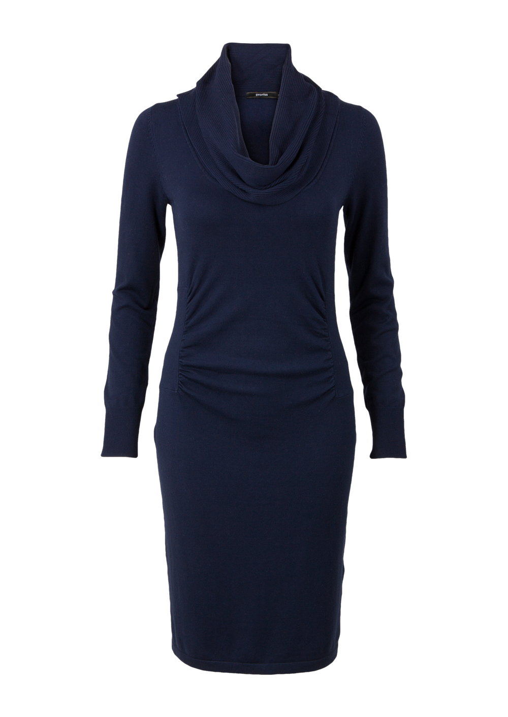 Lichtblauwe jurk met lange mouwen