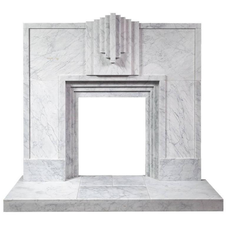Art Deco Style Carrara Marble Fireplace Art Deco Fireplace Art Deco Fashion Marble Fireplaces