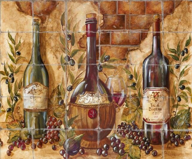 french country mural paintings | painted tile murals benefits of