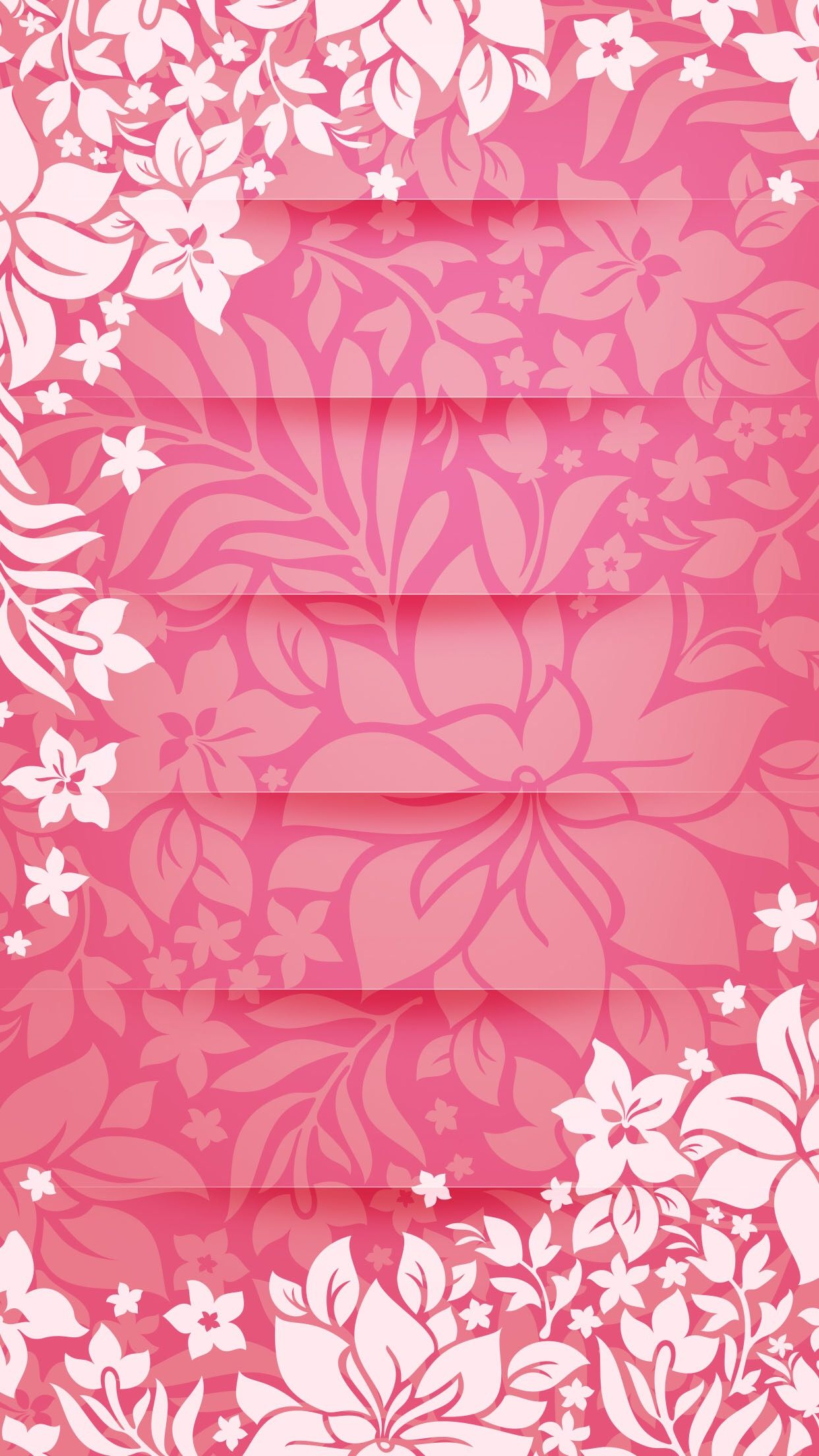 Shelves Flower Pattern Pink Tracery Unicolor Girly For Girls HD IPhone 6 Plus Wallpaper