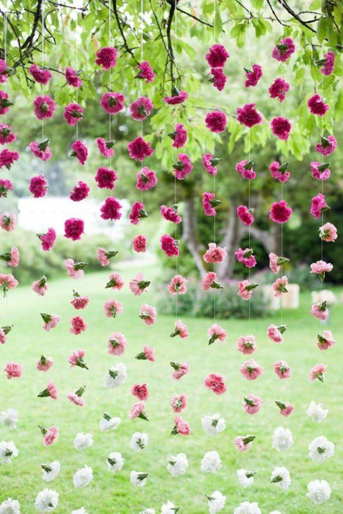 dekoideen gartenparty blumenketten | Deko Kindergeburtstag ...