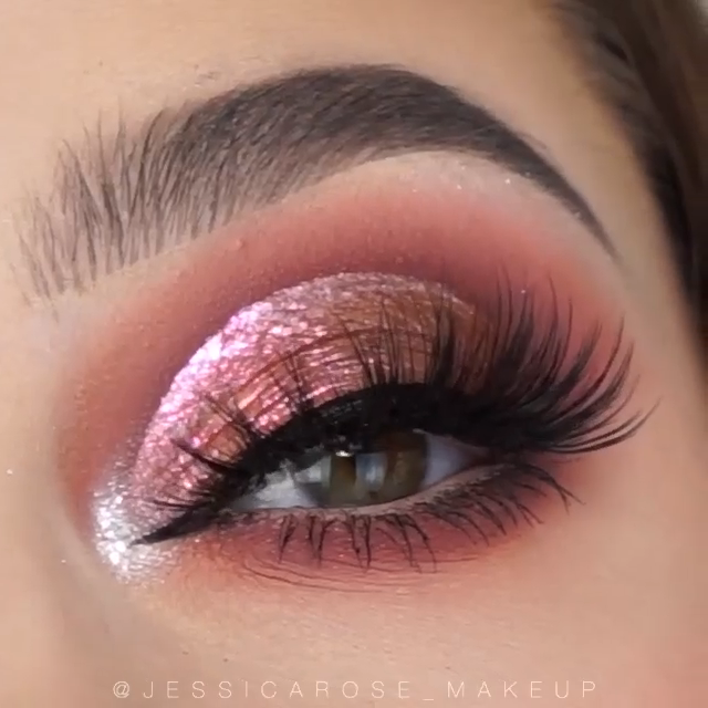 Beautiful pink makeup tutorial 😍😍