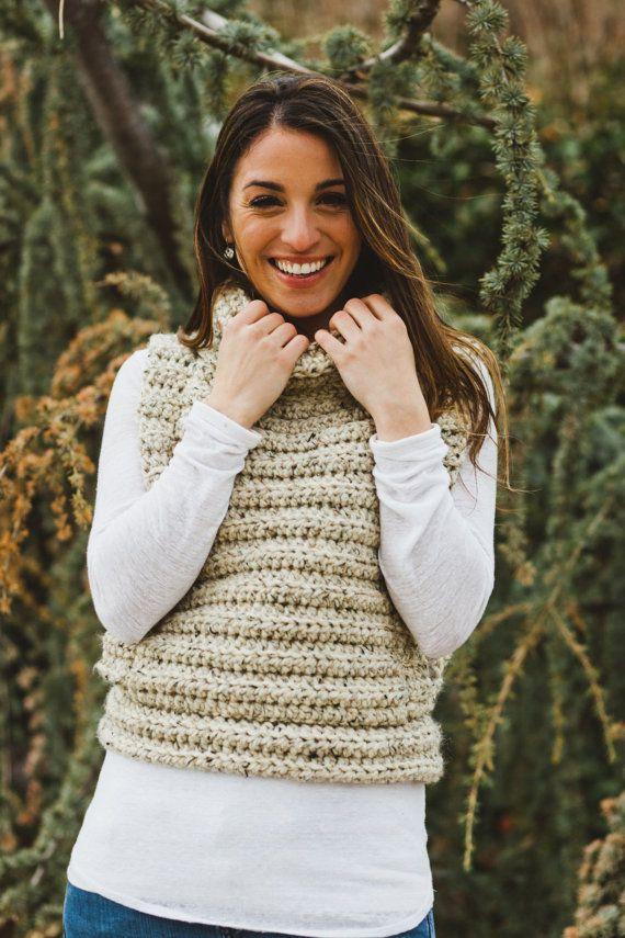 Crochet chaleco con capucha por MintyDesigns en Etsy | bebe ...
