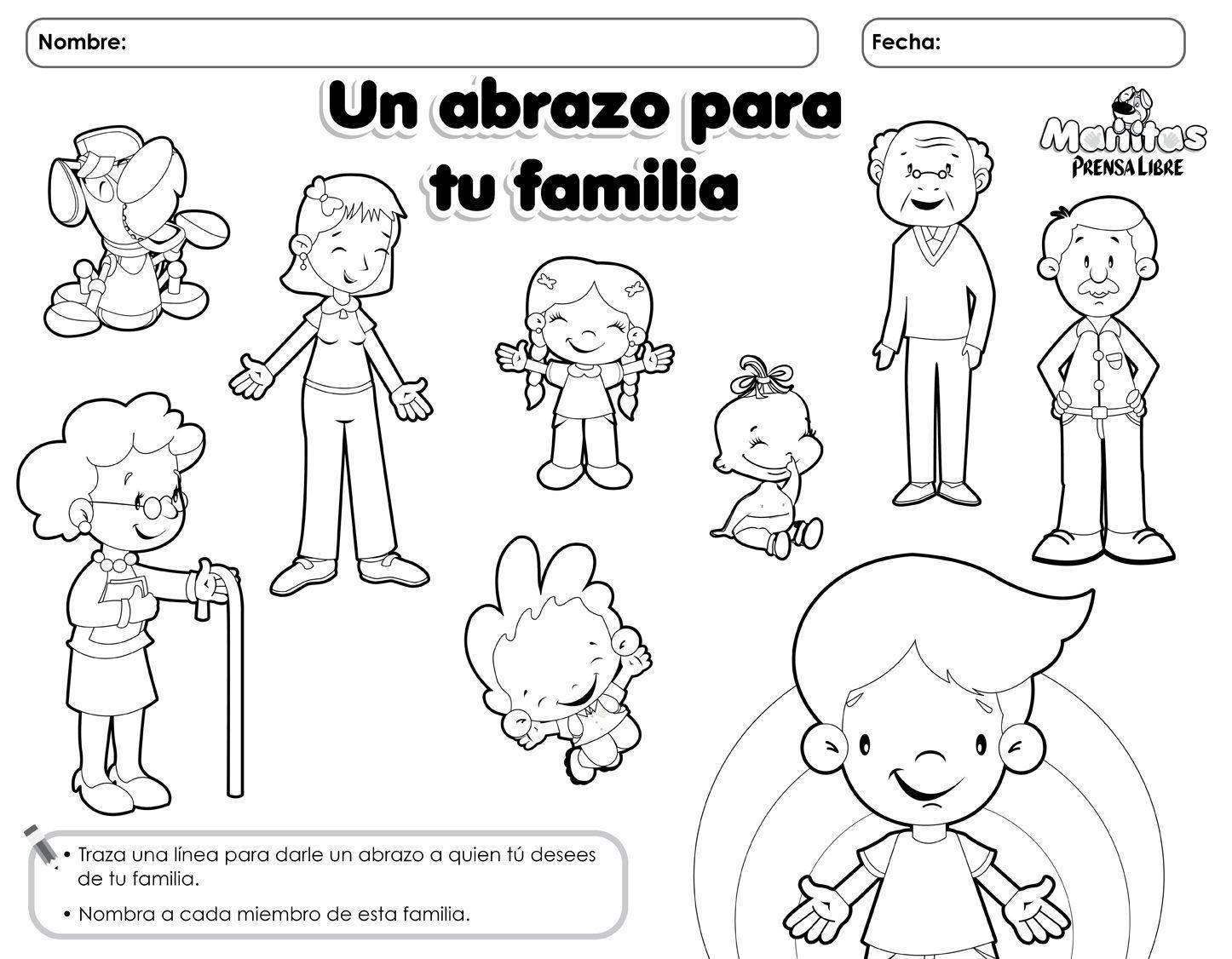 Miembros De Familia En Ingles Para Colorear Buscar Con Google Actividades De La Familia Diferentes Tipos De Familia Actividades Para Preescolar